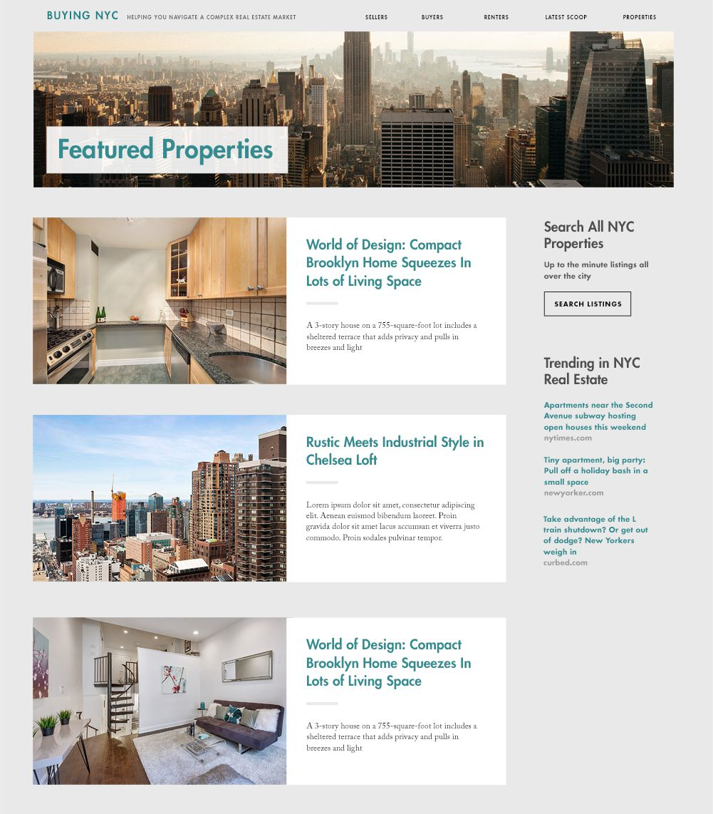 Listing of housing related articles