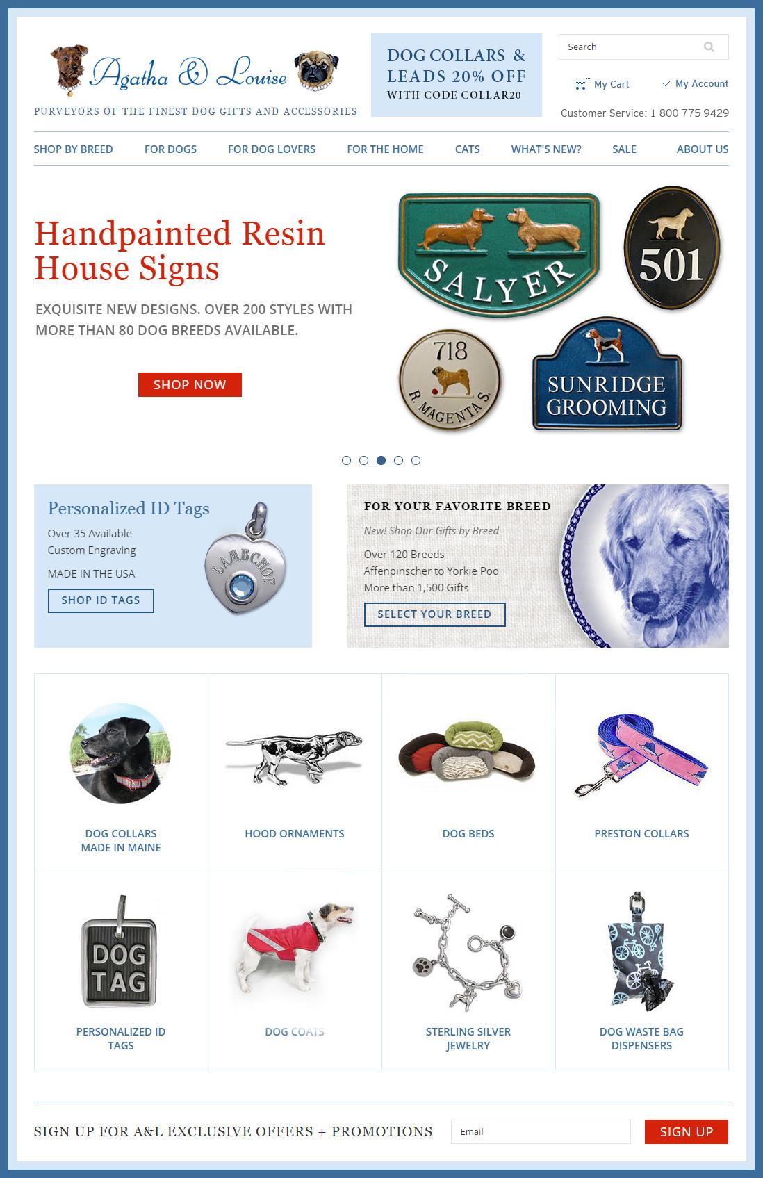 E-commerce homepage