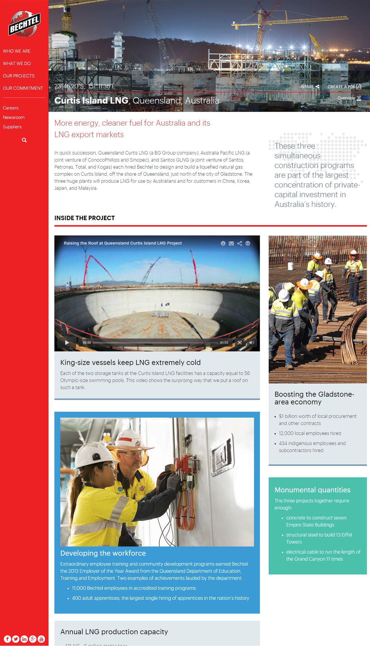 Bechtel Project Page Design