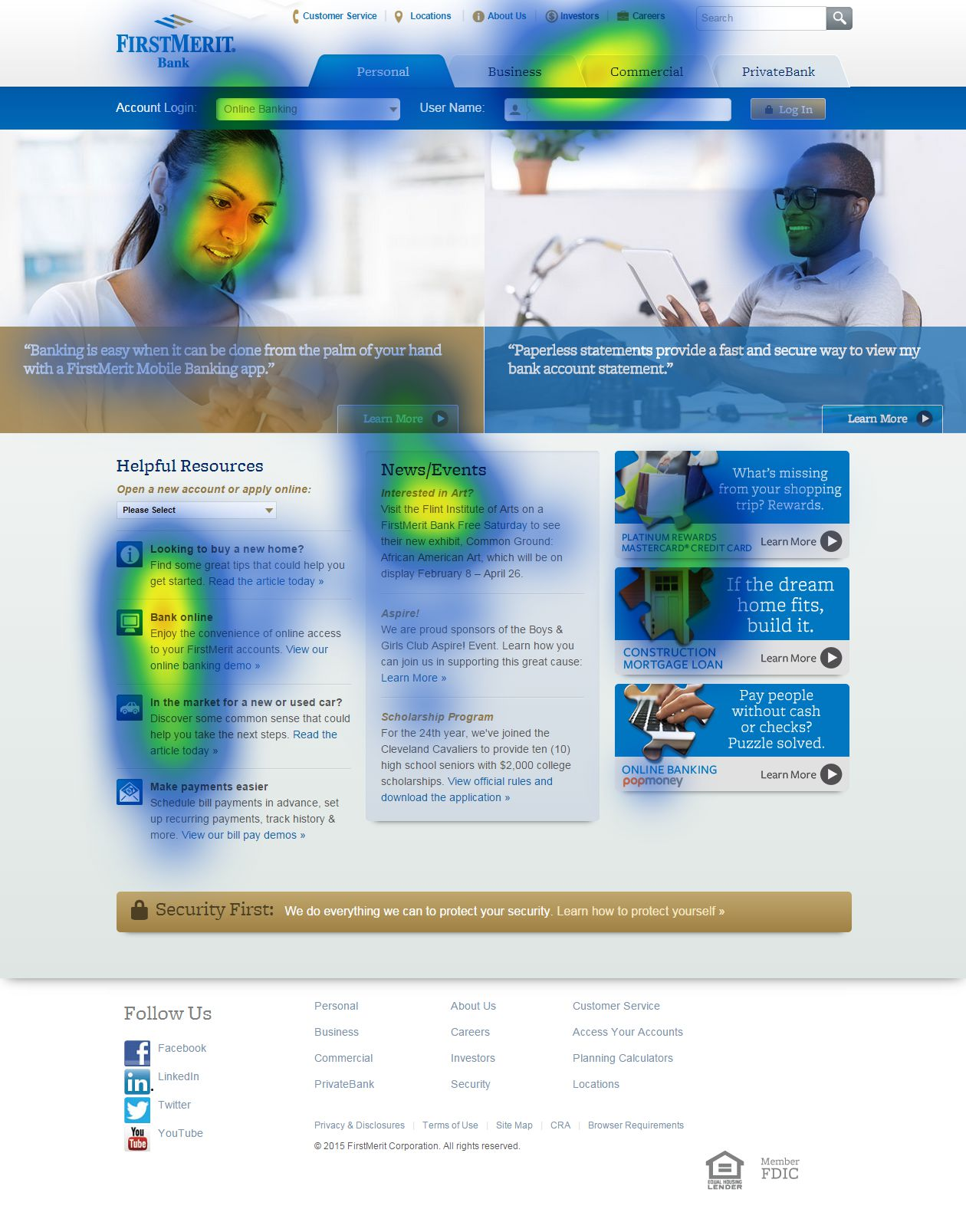 Eyetracking FirstMerit Homepage
